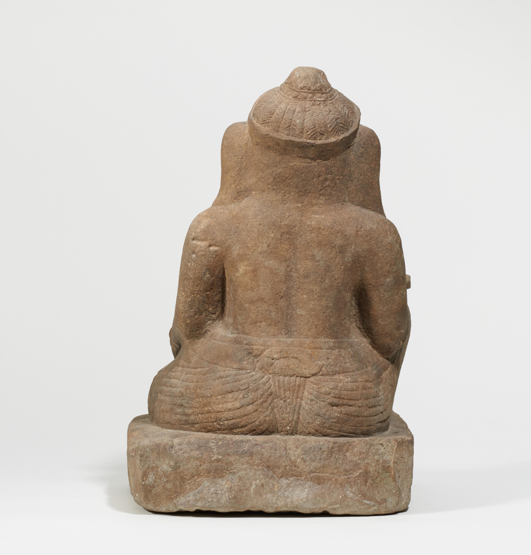 Lot 57 - VERY RARE SITTING GANESHA. Origin: Khmer. Dynasty: Baphuon period (1010-1080). Date: 11th c.