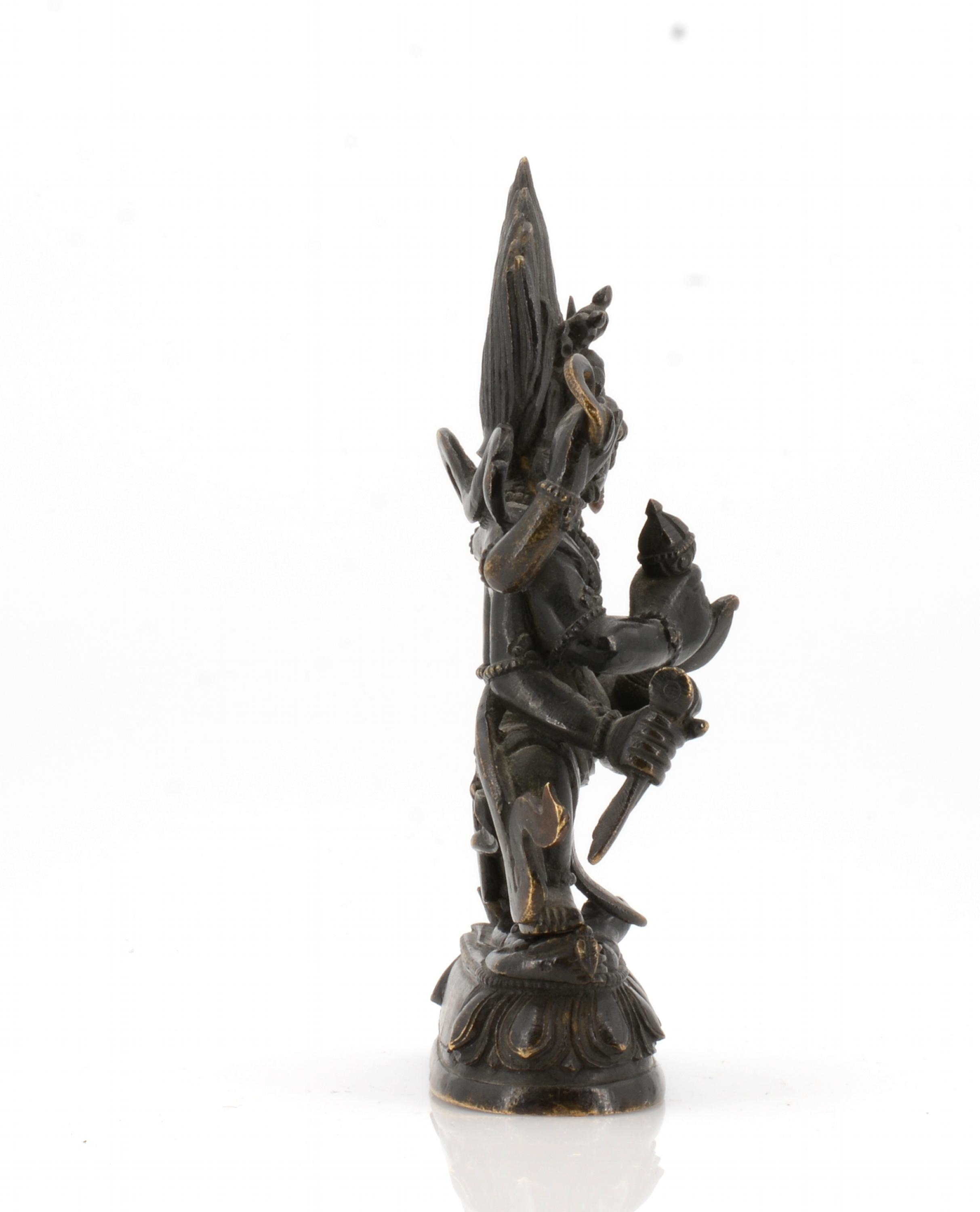 Lot 40 - Title: Sadbhuja Mahakala. Origin: Tibet. Measurement: Weight 520g. Height 13.4. Description:
