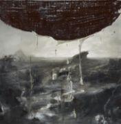 """SAMORI, NICOLA 1977 Forli  Titel: """"A.F.P."""".  Datierung: 2010. Technik: Öl auf Holz.  Maße: 55 x 55cm.  Bezeichnung: Signiert, datiert und betitelt verso: SAMORI 2010 -A.F.P.-.  Rahmen/Sockel: Im Plexiglaskasten.   Provenienz: -Galerie Christian Ehrentraut, Berlin  Ausstellungen: - Auf AEG (Halle 20), Nürnberg 2015 - St. Canisius, Berlin 2016 - Neue Galerie, Gladbeck 2017.   Erläuterungen zum Katalog  Nicola Samori  Italien  Zeitgenössische Kunst  Unikate  2010er  Meer  Gemälde  ..."""