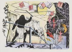 BAUMGÄRTEL, TILO1972 LeipzigTitel: Geist. Datierung: 2004. Technik: Lithografie, handkoloriert auf