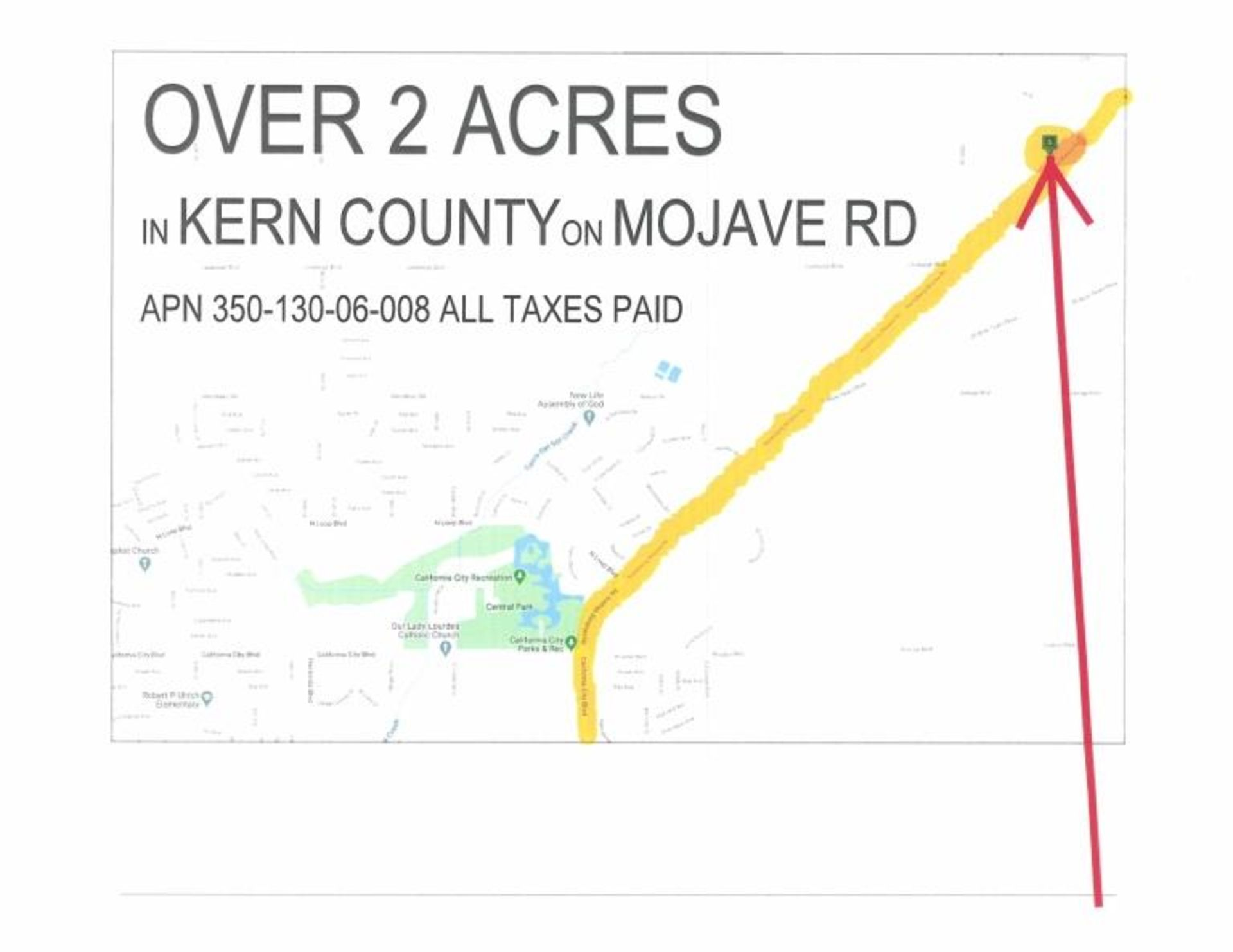 Lot 500 - 2.10 Acre Vacant Parcel, in California City,