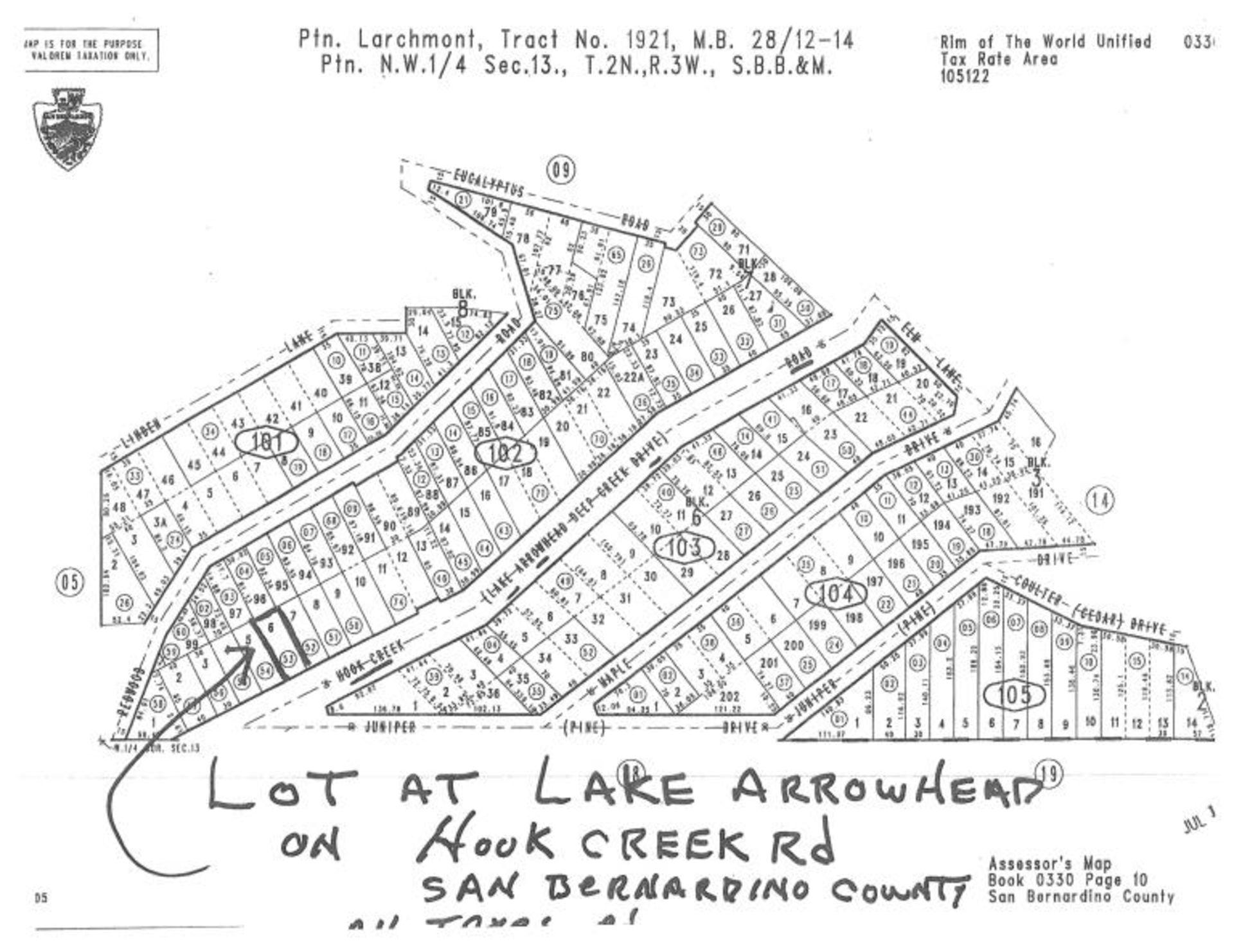 Lot 503 - Vacant Parcel Near the Lake Arrowhead,