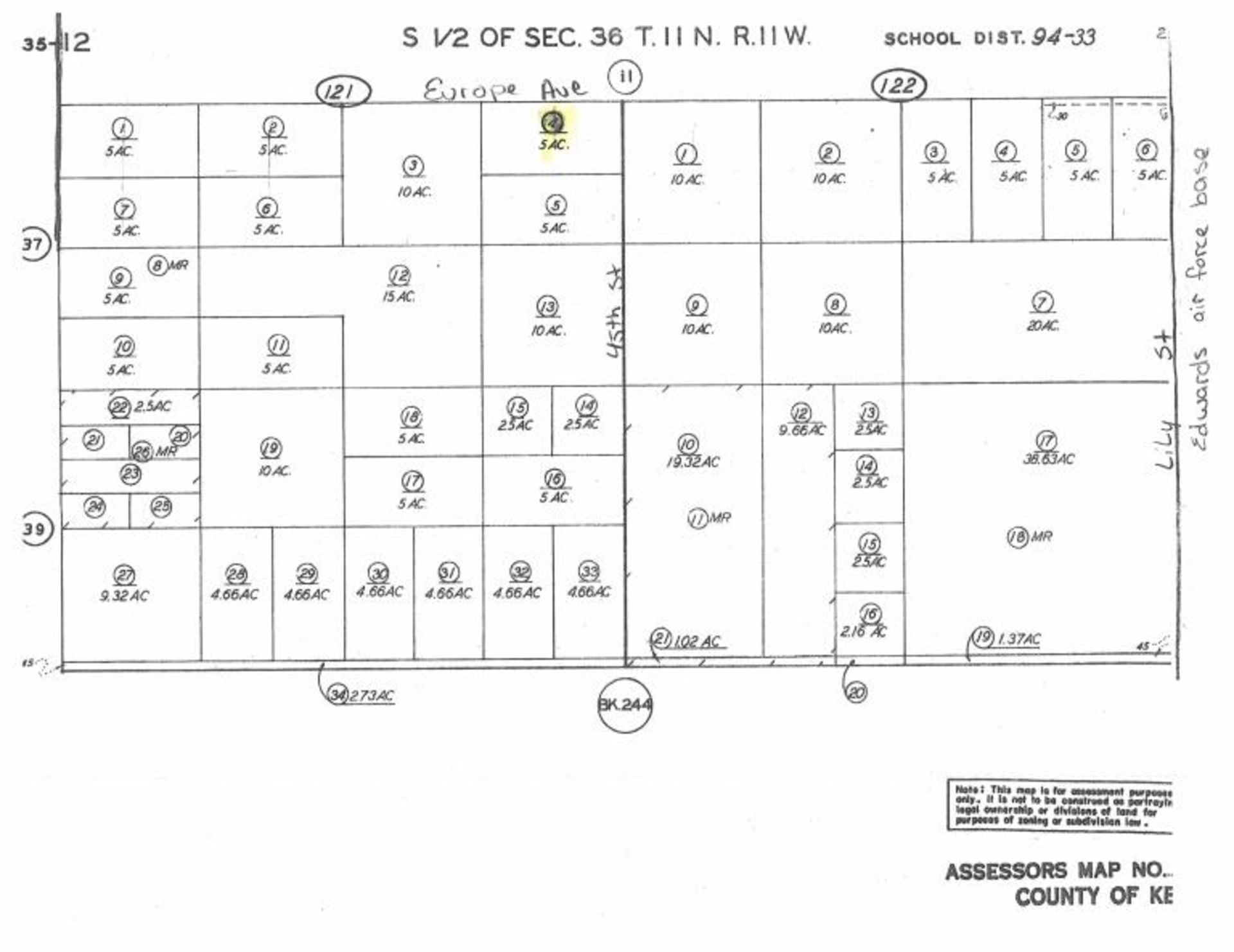 Lot 505 - 5 Acre Vacant Parcel, Near Edwards Air Force Base,