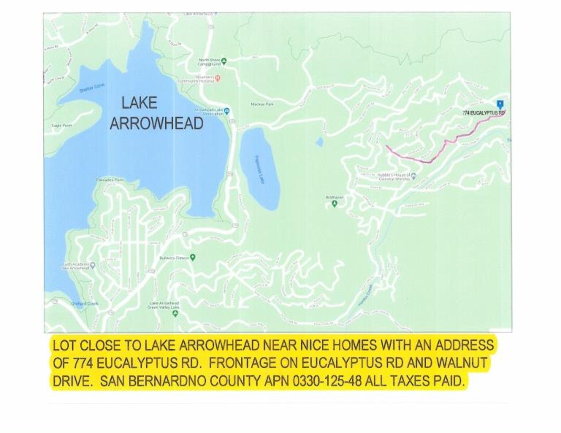 Lot 498 - 31.06' x 120.26' Vacant Parcel near Lake Arrowhead