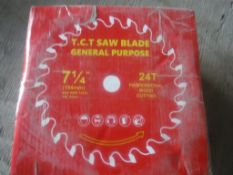 "(10) Unused 2020 7 1/4"" Carbide Saw Blades."