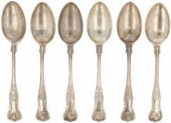 (6) Delig set diner lepels zilver.