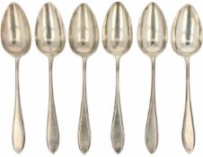 (6) Delig set lepels zilver.