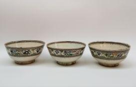 (Aziatica) Polychrome kommen, Perzië, eerste helft 20e eeuwPolychrome kommen, Perzië, eerste helft