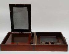 (Curiosa) Ellams Duplicator LondonStencil apparaat in mahoniehouten kist van Ellams Duplicator