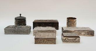 (Curiosa) Plate divers lotDivers lot waaronder 6 doosjes en suikerpot en lepelvaasje Douwe