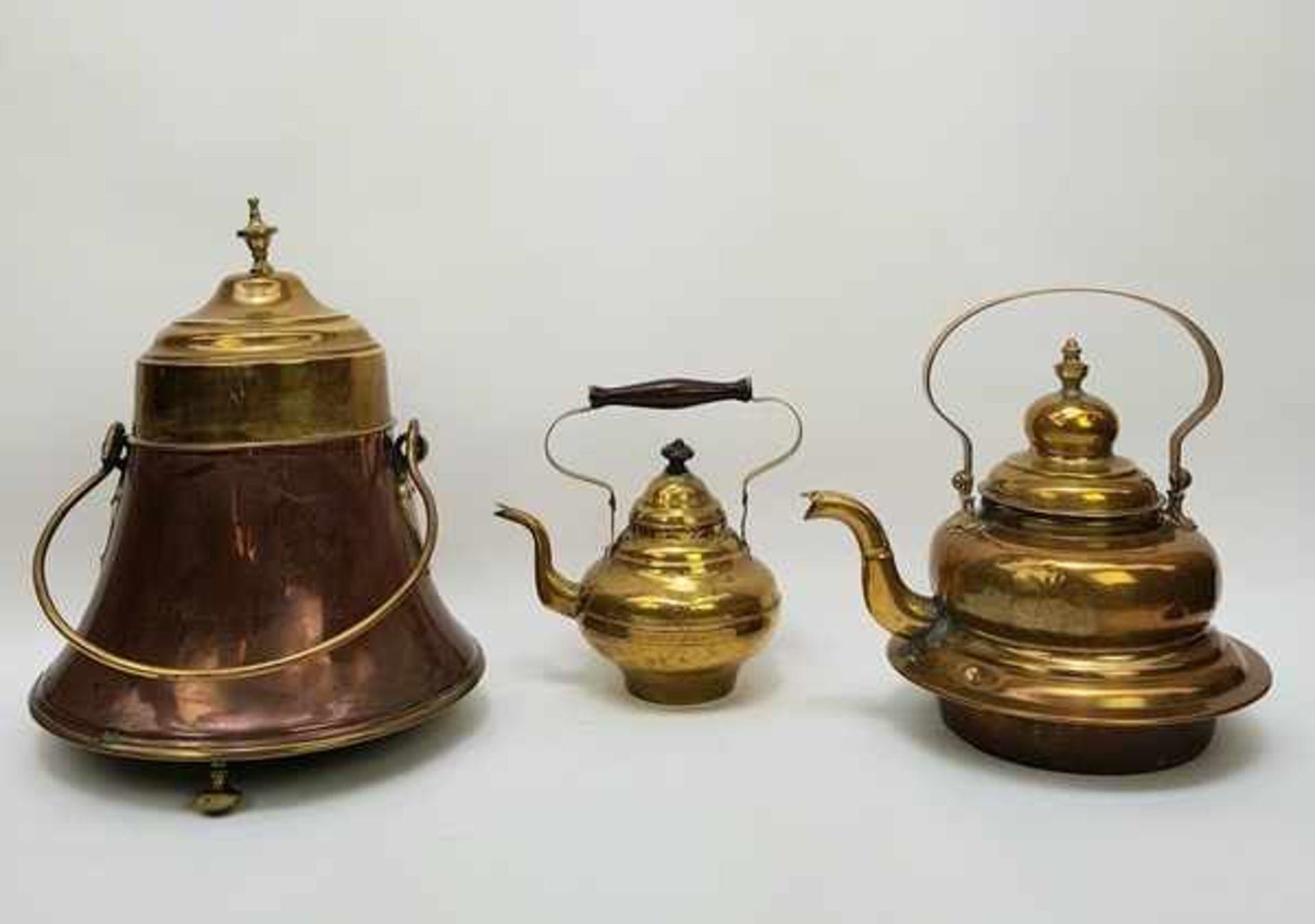 (Antiek) Koperen ketels en doofpot