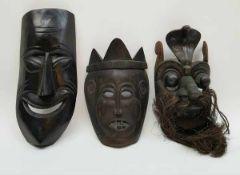 (Etnografica) Maskers uit Mexico, Indonesie en Sri Lanka