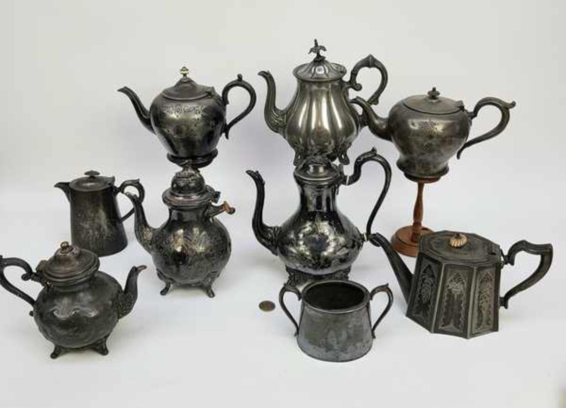 (Antiek) Divers lot thee-en koffiepotten - Bild 2 aus 10