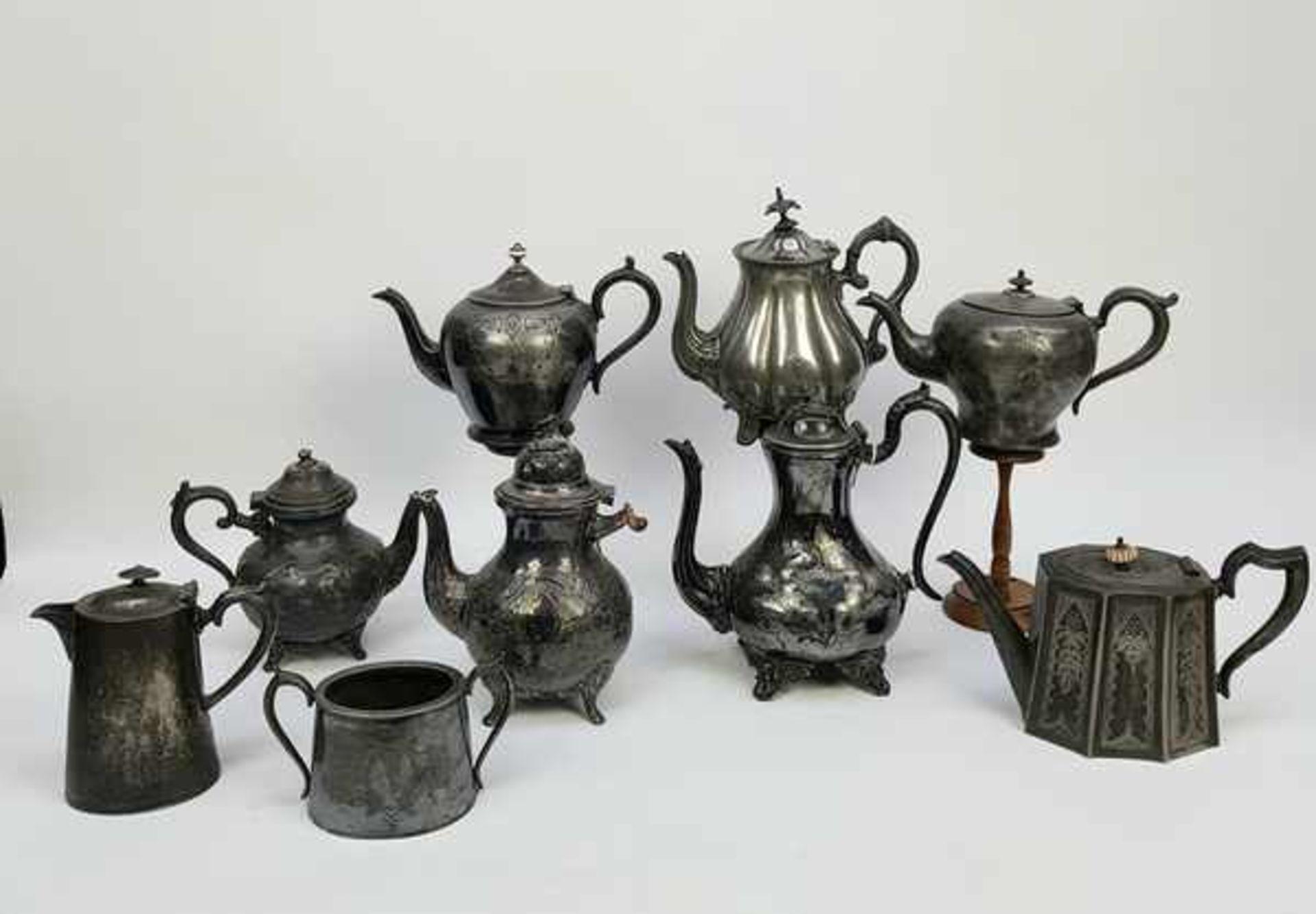 (Antiek) Divers lot thee-en koffiepotten