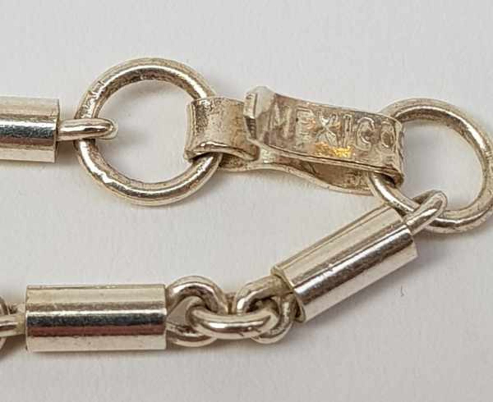 (Sieraden) Zilver + emaille. Armband en halsketting. o.a. Mexico - Image 5 of 7