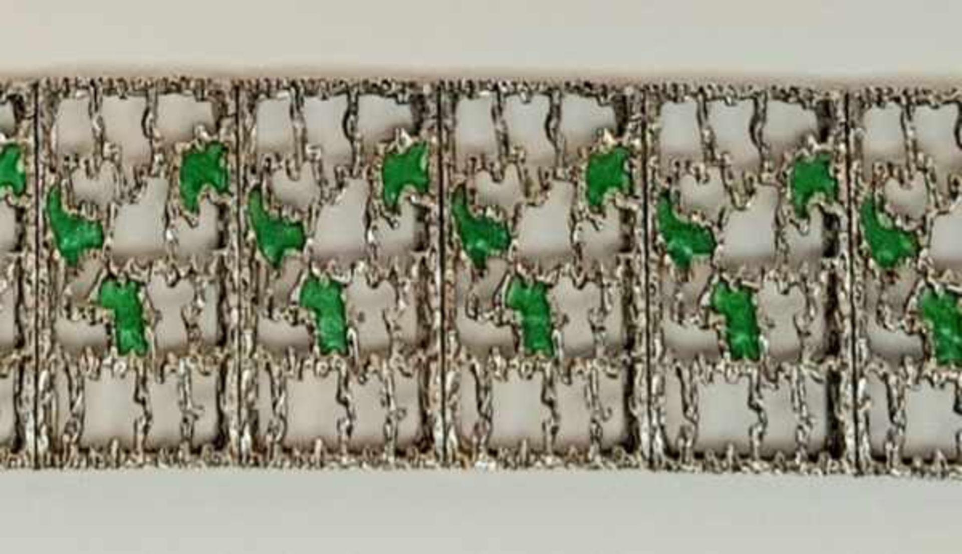 (Sieraden) Zilver + emaille. Armband en halsketting. o.a. Mexico - Image 3 of 7