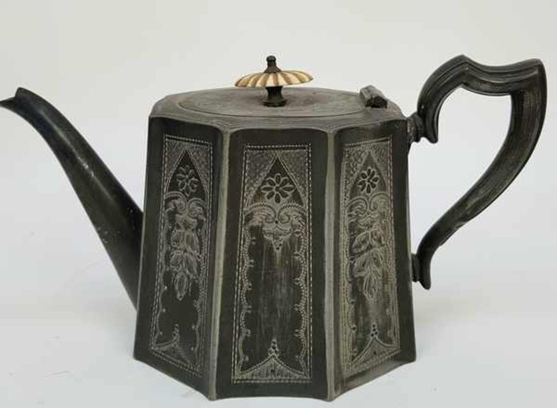 (Antiek) Divers lot thee-en koffiepotten - Bild 5 aus 10