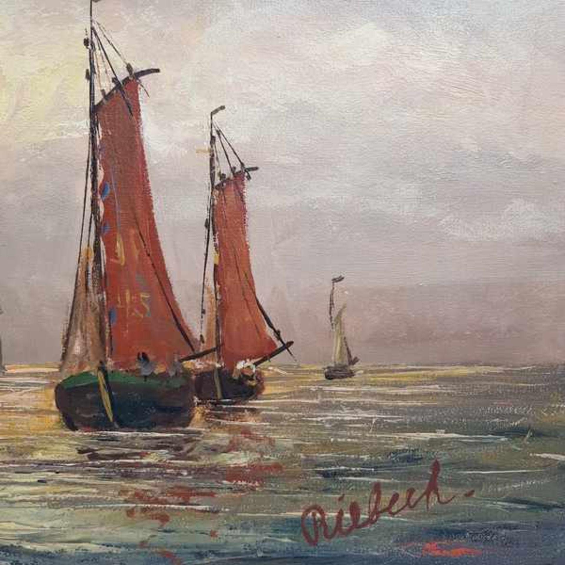 Los 301 - (Kunst) Schilderij, olieverf op doek, Riebeek