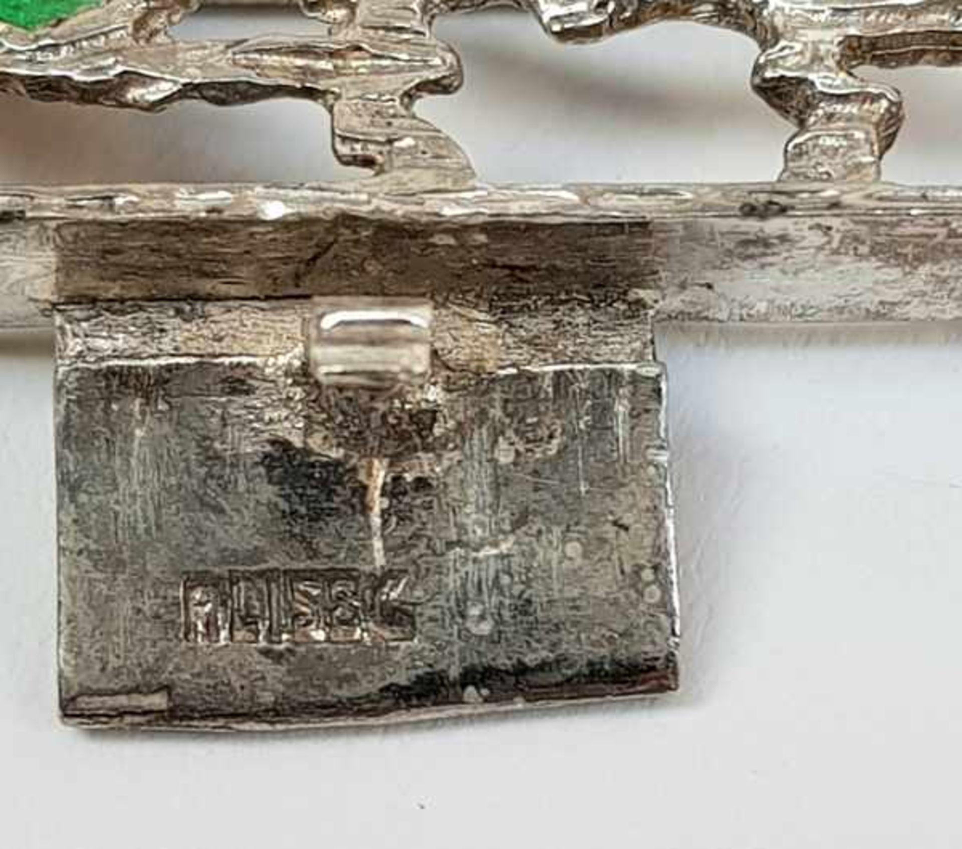 (Sieraden) Zilver + emaille. Armband en halsketting. o.a. Mexico - Image 4 of 7