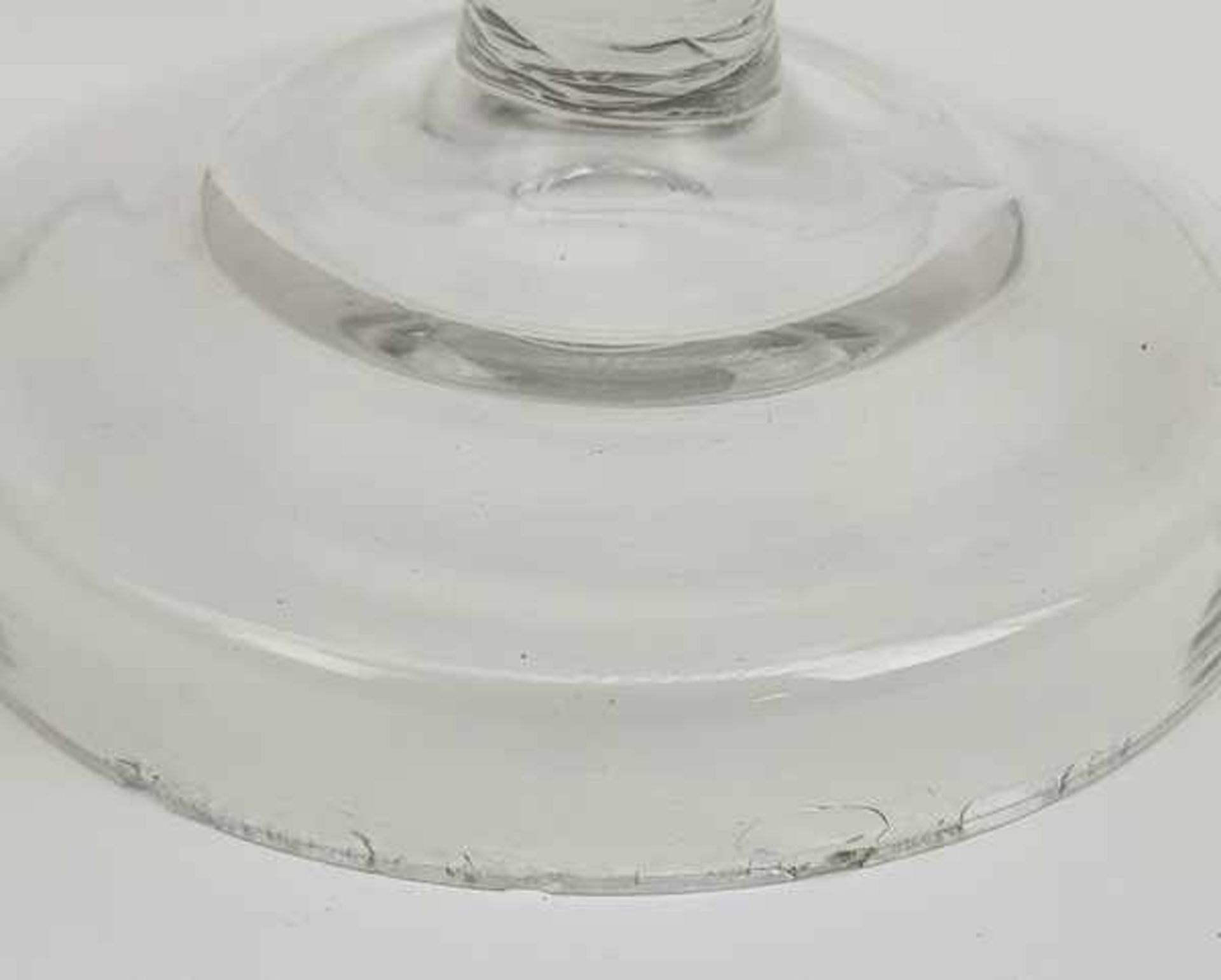 (Antiek) Glazen koekjespot en bowl schaal - Image 6 of 7