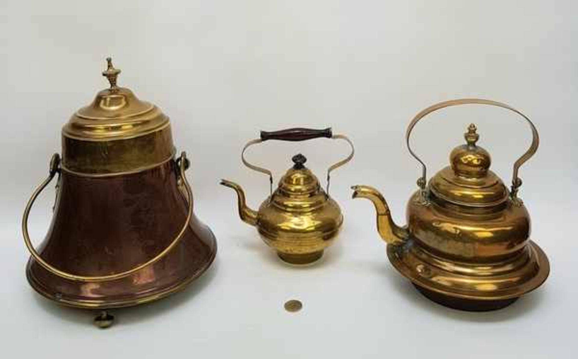 (Antiek) Koperen ketels en doofpot - Bild 3 aus 7