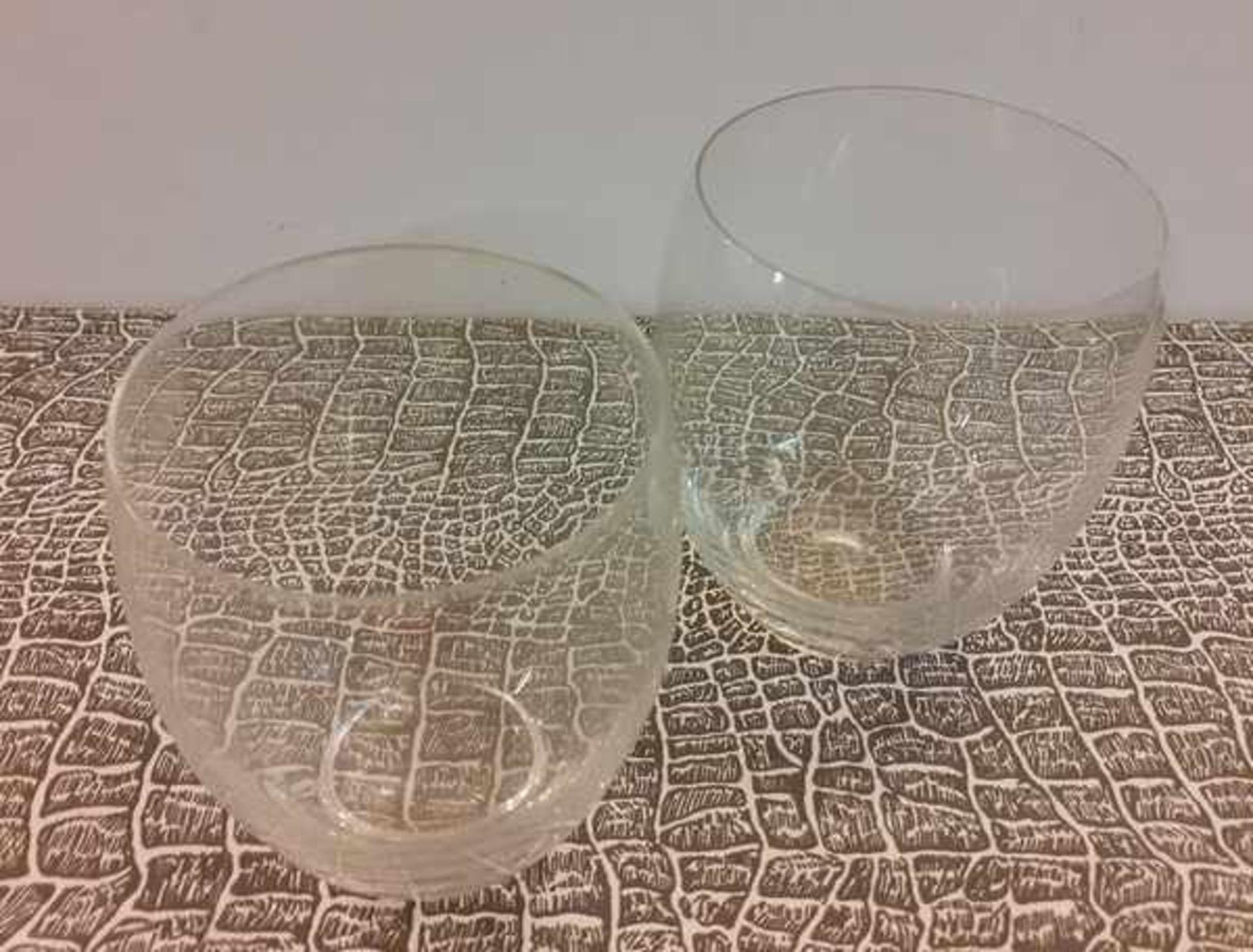 (Toegpaste kunst) Glazen schaaltjes en waterglazen, A.D. Copier Leerdam - Image 4 of 6