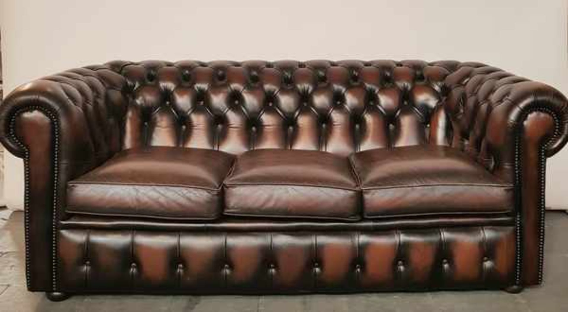 (Curiosa) Chesterfield stijl 3-zits bank
