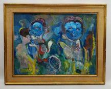 (Kunst) Schilderij, olieverf op doek