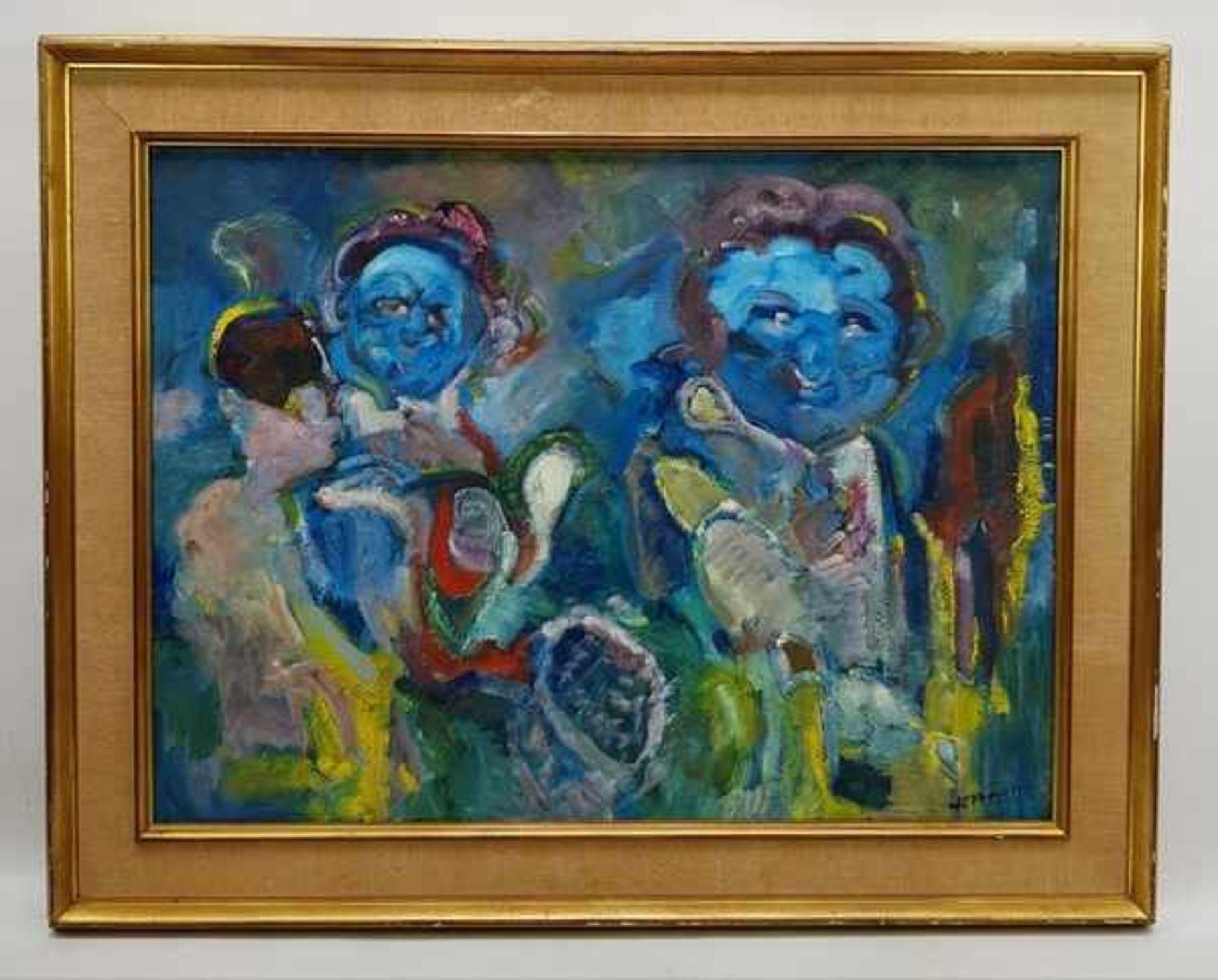 Los 312 - (Kunst) Schilderij, olieverf op doek