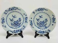 (Aziatica) Stel blauw witte borden - China - 18e eeuw (Chienlung periode)