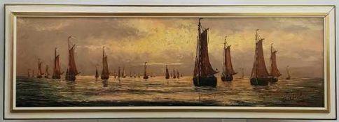 (Kunst) Schilderij, olieverf op doek, Riebeek