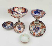 (Aziatica) Zes diverse Imari kommen - Japan - 19e eeuw