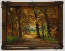 (Kunst) Schilderij, olieverf op doek, H. Scholten