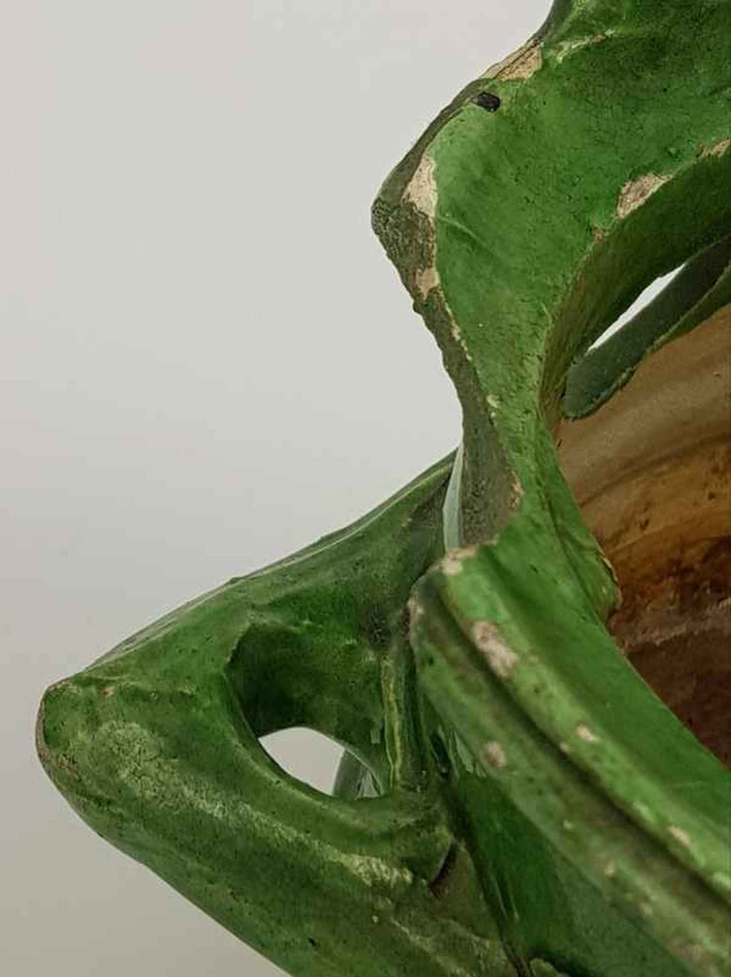 Los 238 - (Antiek) Groen geglazuurde vuurtesten en komforen