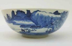 (Aziatica) Blauw witte kom - China - 18e eeuw (Chienlung periode)