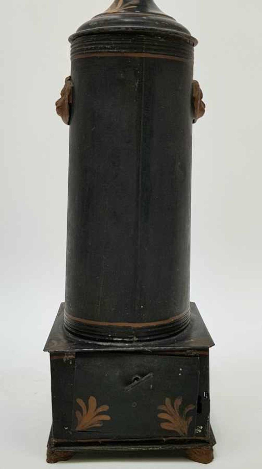 (Antiek) Blikken kraantjespot, theebus en dienblad - Image 4 of 10