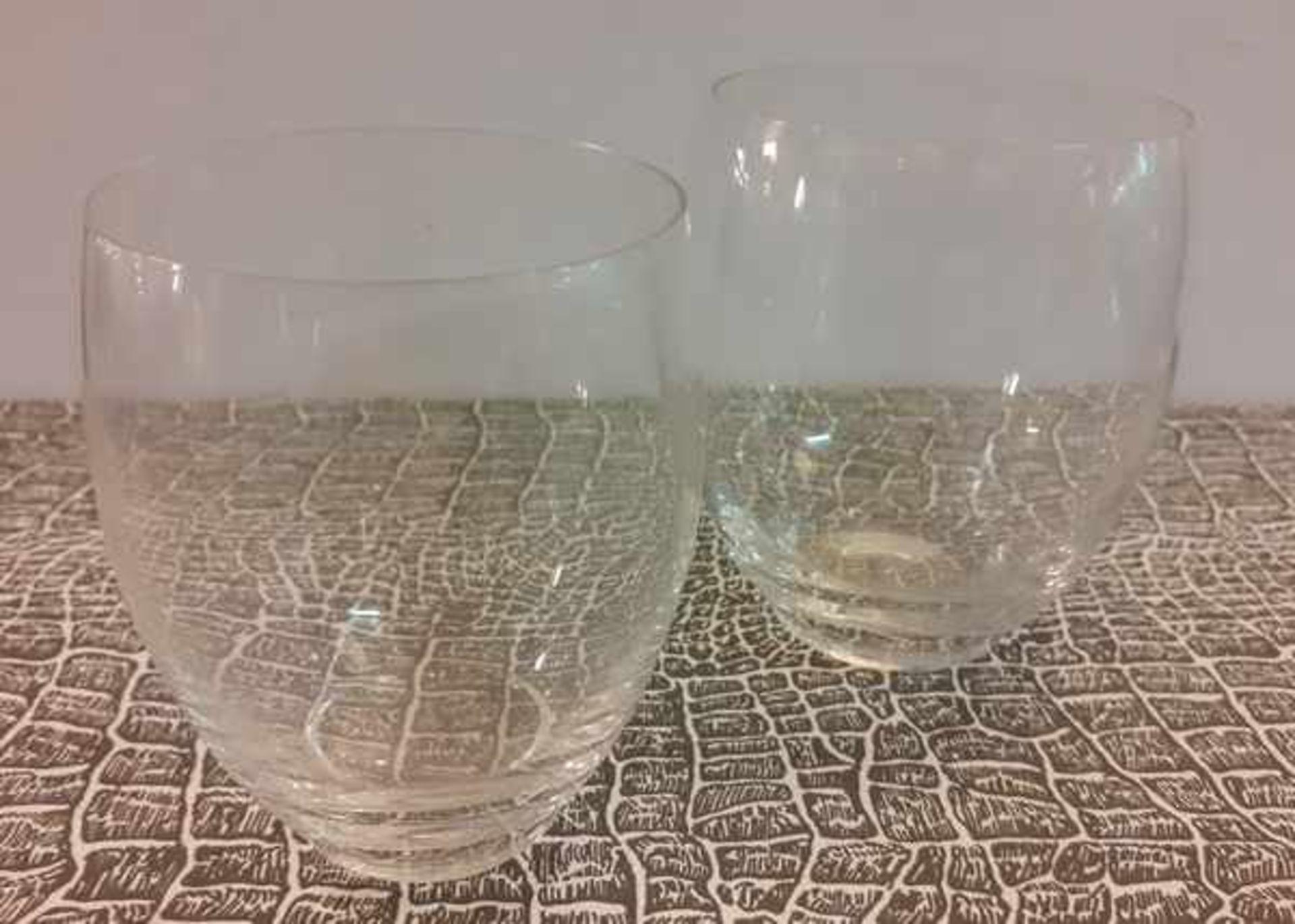 (Toegpaste kunst) Glazen schaaltjes en waterglazen, A.D. Copier Leerdam - Image 2 of 6