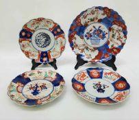 (Aziatica) Vier Imari borden - Japan - 19e eeuw