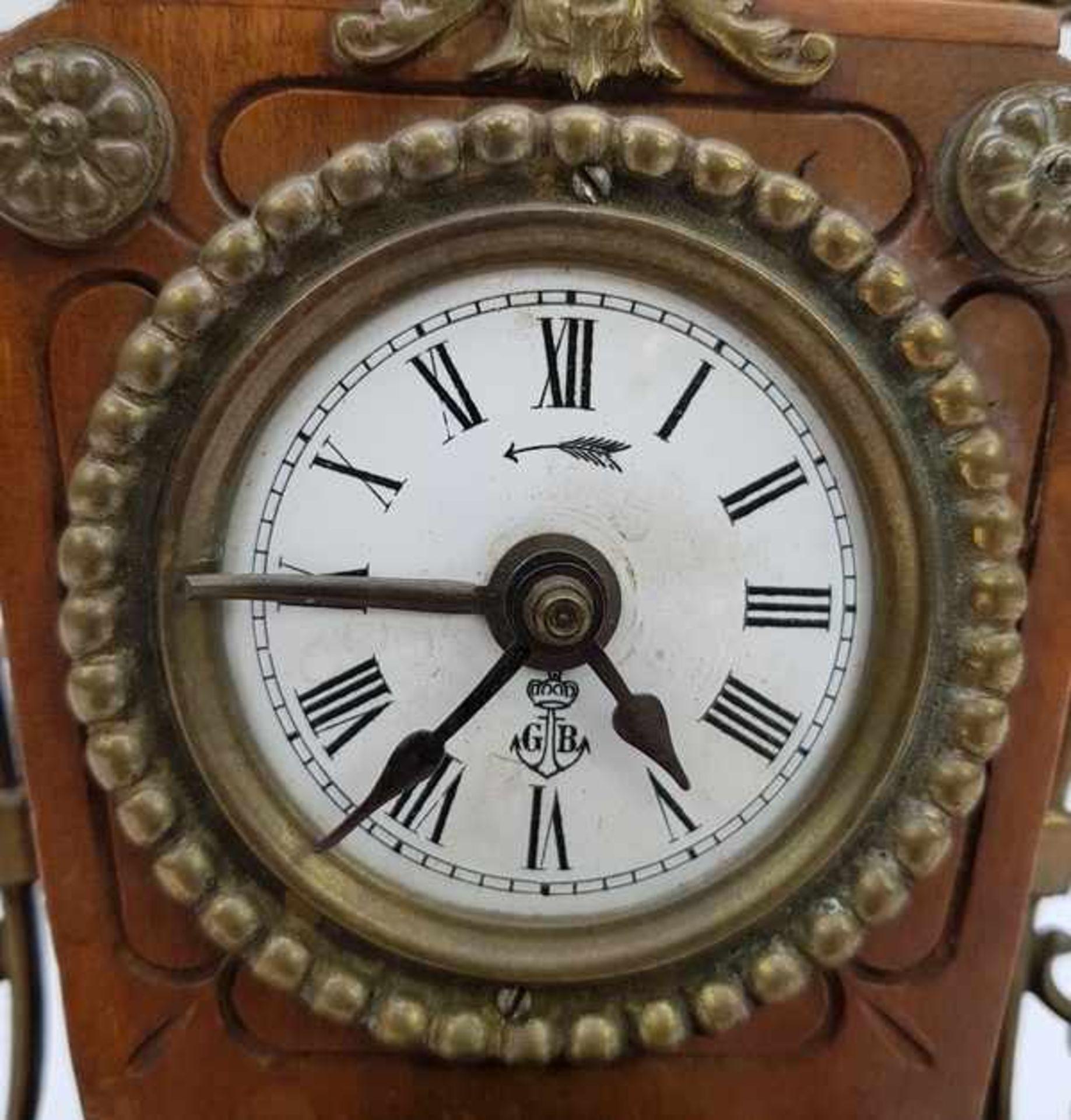 (Antiek) Wekker Gustav Becker - Image 3 of 10
