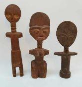 (Etnografica) Hout, Akuaba Ashanti dolls. Ghana Afrika