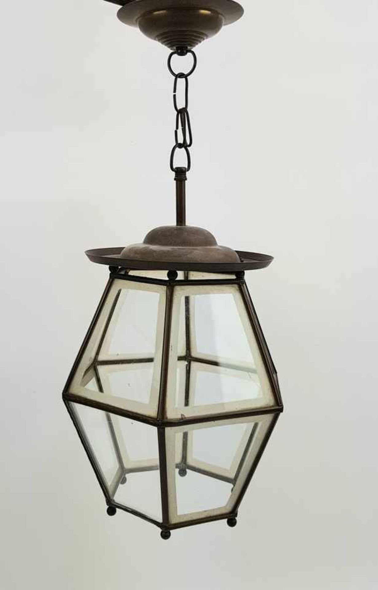 (Antiek) Koperen hanglamp