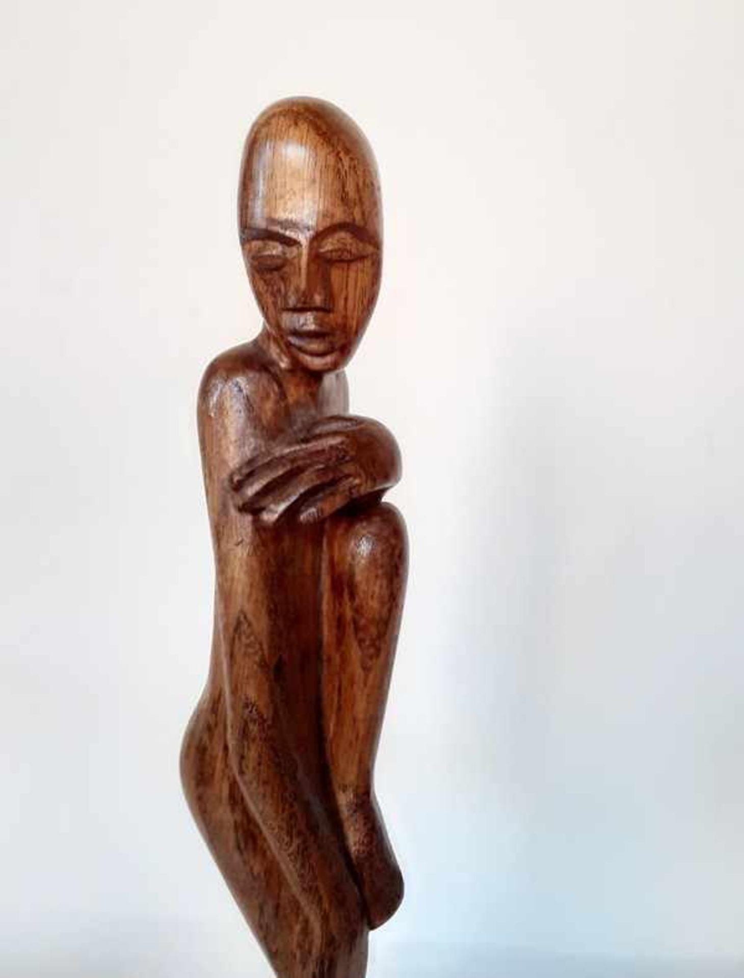 Los 282 - (Kunst) Houten sculptuur Art Deco