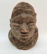 (Etnografica) Hout, Yoruba hoofd, Nigeria Afrika