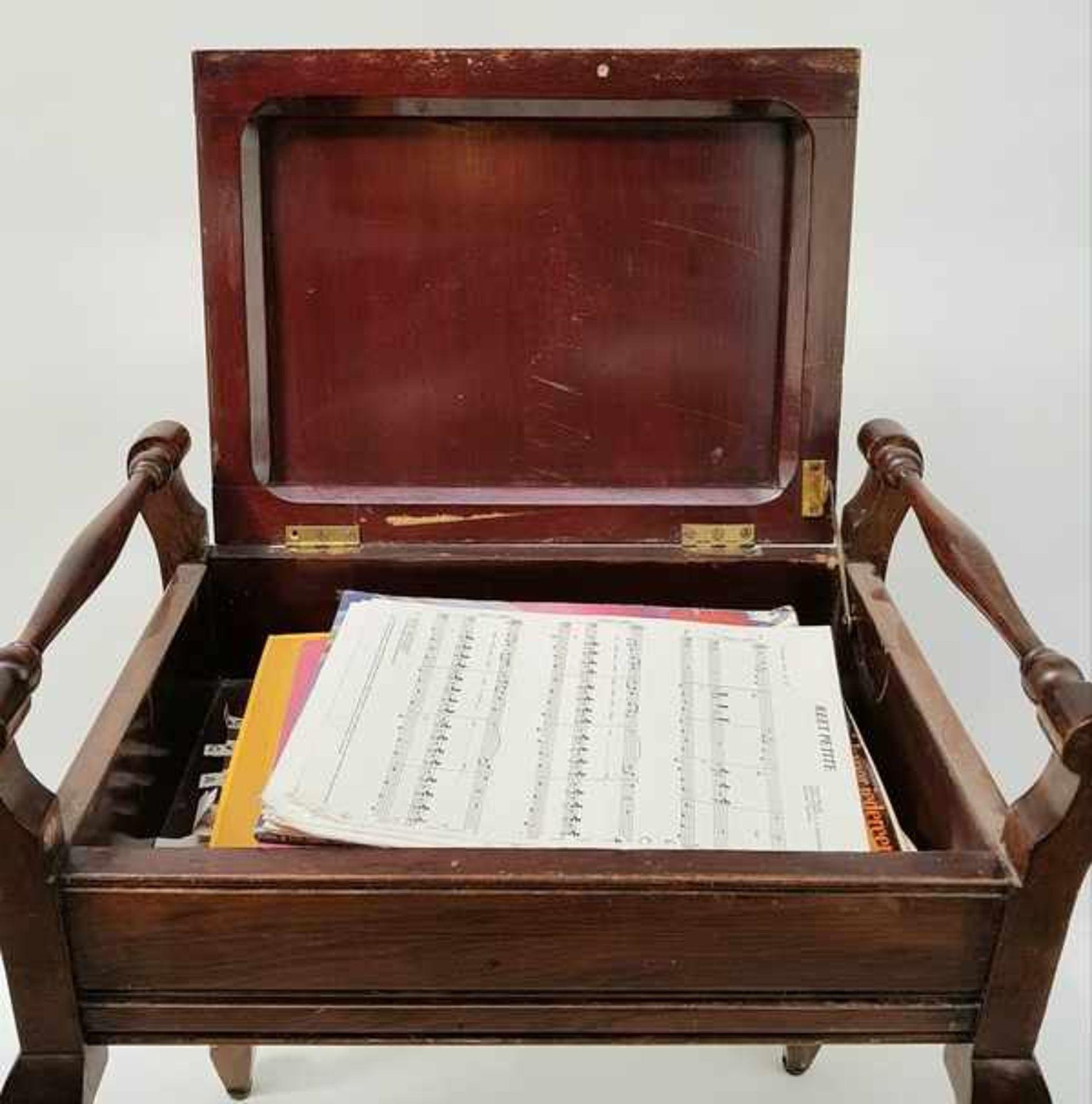 (Curiosa) Pianobankje met bladmuziek - Bild 4 aus 4