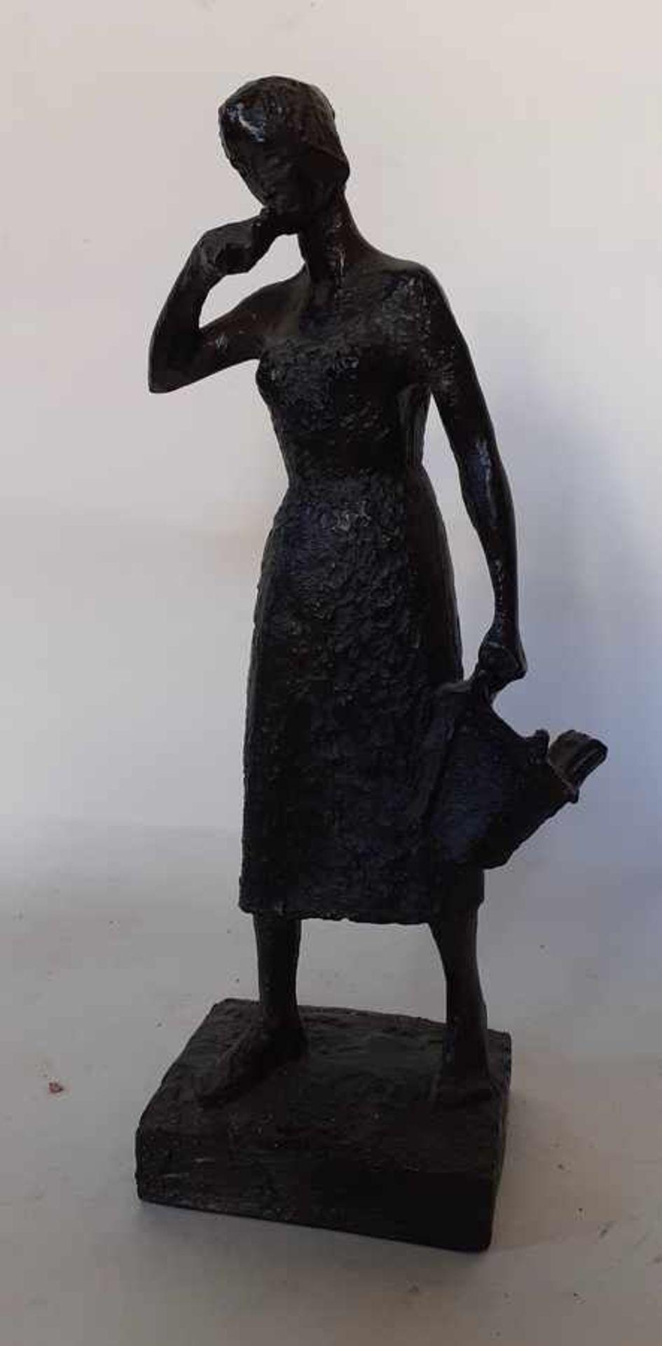 (Kunst) Gebronst epoxy beeld, Tummers-Van Hasselt - Image 2 of 5