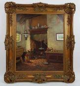 (Kunst) Schilderij, olieverf op doek, A. van Gilst