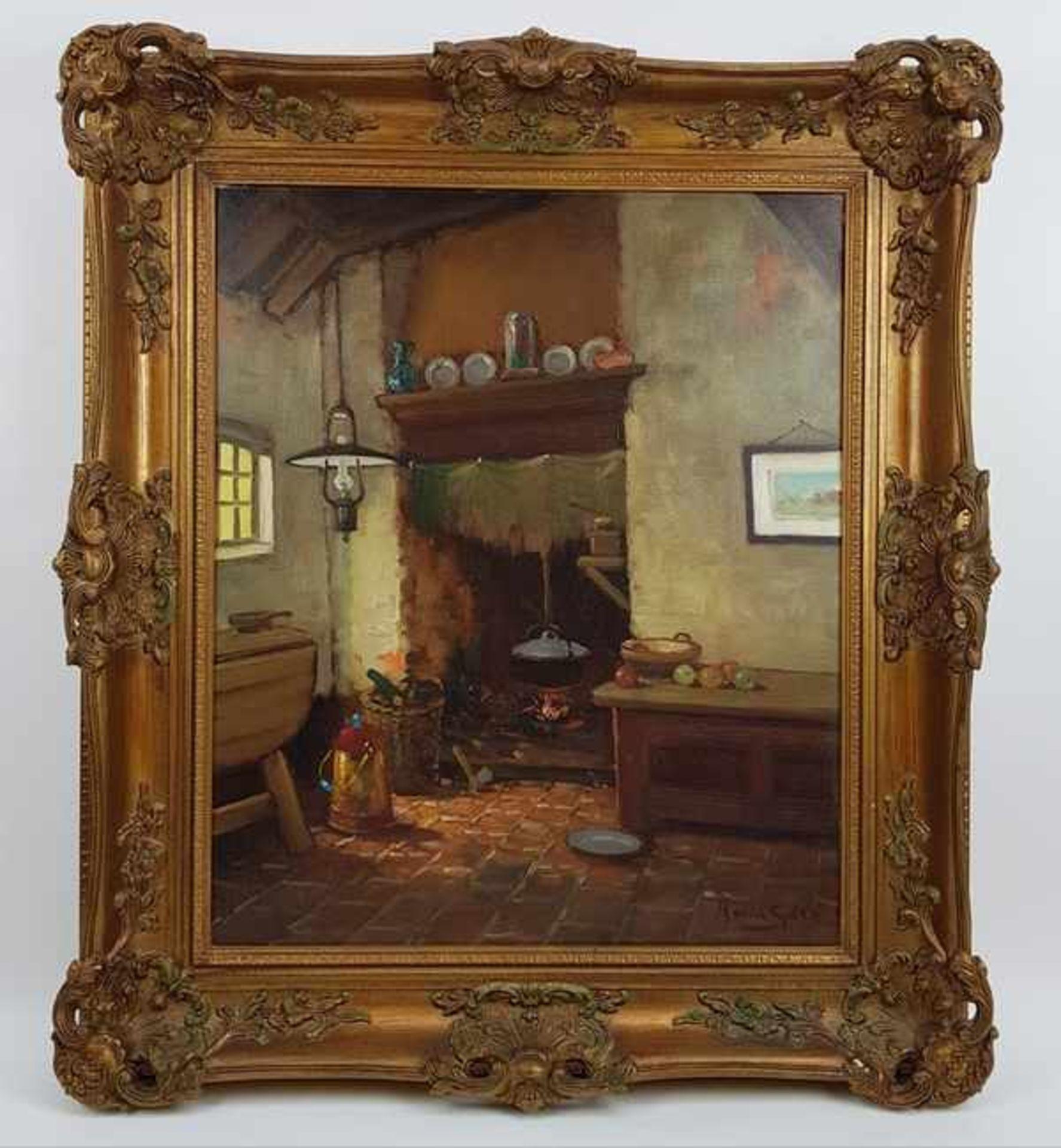 Los 308 - (Kunst) Schilderij, olieverf op doek, A. van Gilst