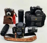 (Curiosa) Divers lot camera's en toebehoren