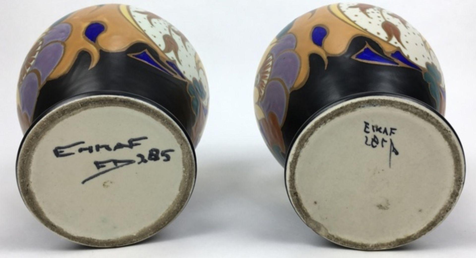 (Toegpaste kunst) Oorkannen, EskafEen paar plateel oorkannen. Eskaf (Eerste Steenwijker Kunst A - Image 6 of 6