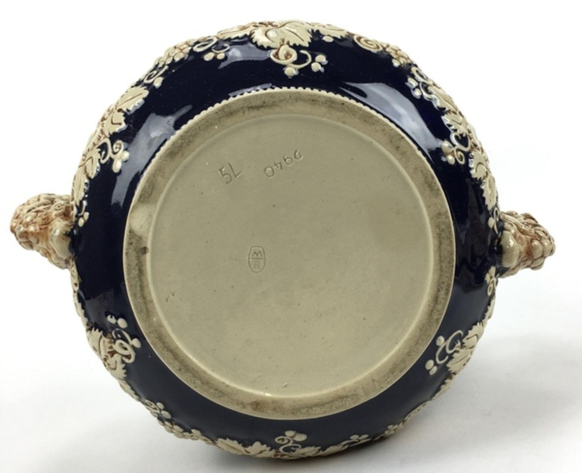 (Curiosa) Aardewerk bowl pot, DuitslandAardewerk bowl pot met druiventrossen decoratie. Duitsla - Bild 8 aus 8